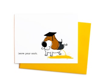 Beagle Graduate Leave Your Mark Graduation Card