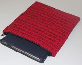 Quilted Zippered iPad Sleeve, Electronic Gadget Case, Practice Printing Letters and Numbers Worksheet