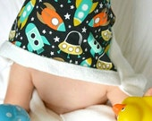Bamboo Hooded Toddler Towel: Rockets