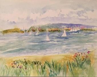 Original Watercolor - Ocean Vista