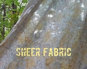 Vintage Sheer Voile Cotton Fabric Yardage 40's