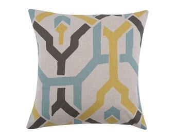 YELLOW Pillow Cover.Decorator Pillow Cover.Home Decor.Large Print. PUSHPA COLLINS.Cushions. Cushion.Pillow. Premier Prints