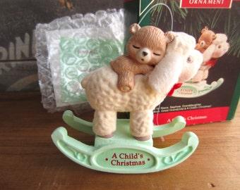 1992 Hallmark A Child's Christmas Keepsake Ornament Personalize 6 ways
