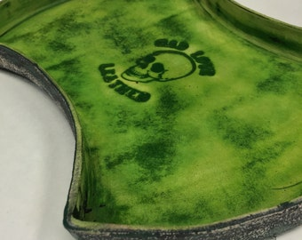 Double Axe Head - Distressed Green - MADE TO ORDER
