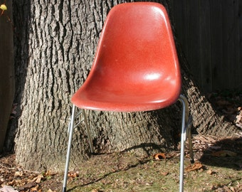 Vintage Eames  Shell Chair Scoop Herman Miller Terra Cotta Terracotta SALE