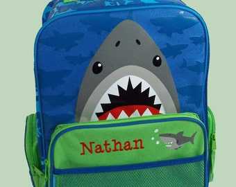 Personalized Stephen Joseph Rolling Luggage SHARK Themed for Children