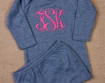Monogramed, gown