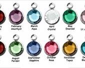 Add a Swarovski Crystal Birthstone to your Charm or Keychain
