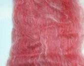 Suri Alpaca Batt, Be My Valentine, Hand Carded Batt, Luxury Spinning Fiber, Red Alpaca Silk Fiber Batts 4.5oz