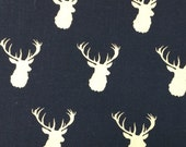Navy Deer - 12x12 Sweet Bobbins Wet Bag - SEAM SEALED - Snap Strap