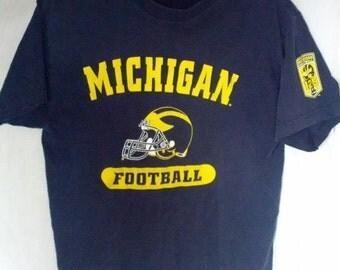SALE Michigan Football shirt small navy