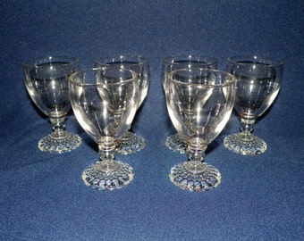 "Anchor Hocking Bubble Juice Glasses a set of 6, Cordials or 4 1/4"" Inch Juice Glasses"