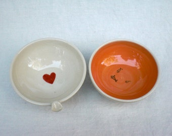 Kitty Dish Set for your Kitty - ORANGE