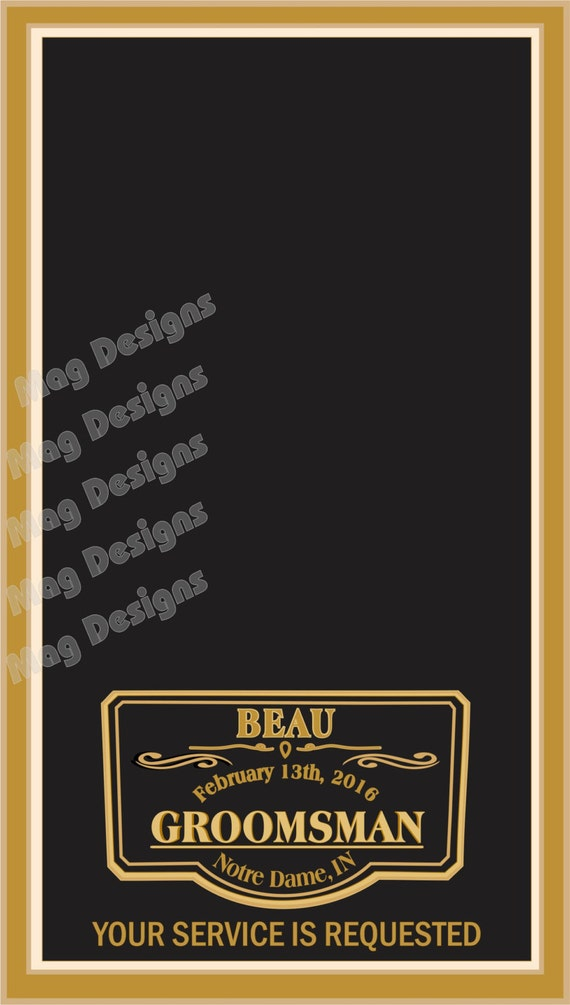 Grooms Gifts Groomsman Wedding Cigar Cards Custom Printed For