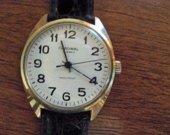 cardinal watch 19 jewel shock proof working