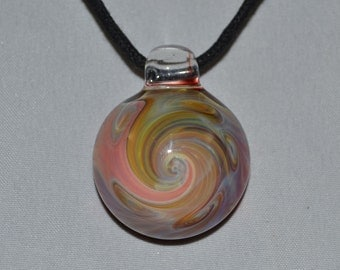 Heady Glass Pendant Necklace - Trippy Glass Jewelry - Hand Blown Boro Lampwork Swirl