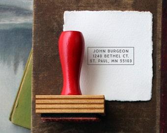 Custom Return Address Stamp // Personalized Rubber Stamp // BURGEON