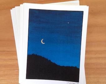 6 blank cards - September Evening