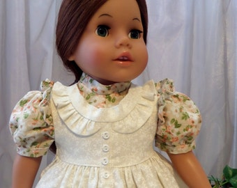 18 Inch Doll Clothes / Doll Dress And Pinafore Apron / Doll Clothes / Doll Clothing / Doll Accessories / Fits American Girl Doll - 1073