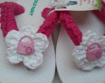 ON SALE NOW....Girls Flip Flops, Size 8/9 Toddler Girls Sandals...One Pair left