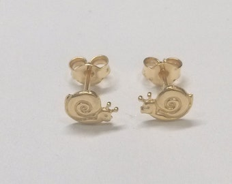 Snail earrings, 925 silver gold plating