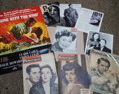 Hooray For Hollywood...vtg40's Lot of Magazines Memorabilia Photos Picturegoer Film Gone With The Wind Poster Carey Grant Jayne Mansfield