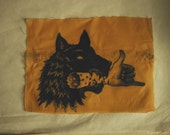 Wolf Bite Backpatch, Waxed Cotton, bunt orange or black