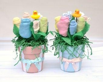 Twin Baby Shower Centerpieces, Boy Girl Twin Shower, Shower Decor for Twins, Blue Pink Baby Shower, Twin Shower Ideas, Twin Newborn Clothes