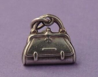 STERLING Purse Charm / Sterling Handbag Charm / Sterling Doctor's Bag Charm / Sterling Nurse's Bag Charm / Sterling Medical Bag Charm