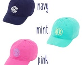 Preppy Monogrammed Baseball Cap Personalized Kids Hat Youth Ball Caps