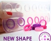 Multiple Ring Mold 6 Stackable Thin Facetted Band Silicone Ring Mold; Sizes 5 - 11.5