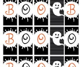Boo! Halloween Miniature Candy Bar Wrapper Set- 4 designs included - INSTANT DOWNLOAD