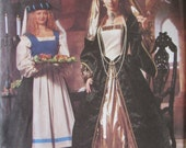 McCalls 2242 Uncut Sewing Pattern Misses Renaissance Costumes Size 14-16-18 , 1999