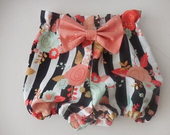 Paper bag bloomers high waisted bloomers diaper covers with headband