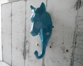 wall hook coat hook shabby hook turquoise hook french country cottage chic rustic modern decor farmhouse kitchen towel holder -