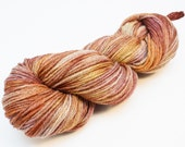 Flint Corn- Hand Dyed Wool Worsted Weight Yarn on Gray Classic Fox Base