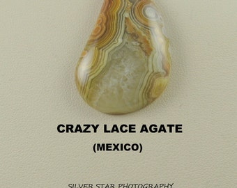 Sale Price: Crazy Lace Agate Designer Freeform Large Cabochon for Jewelry Artisans.
