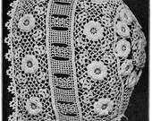 Irish Crochet Baby Bonnet Pattern PDF Vintage Crochet Lace 1916 Antique