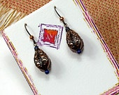 Everyday Vintage Copper Collection, Lapis, Assorted Dangle Earrings