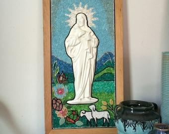 Vintage Religious Sand Art