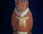 Asian Carved Folk Art Statue, Asian Mother and Child, Hand Carved Asian Art, Vintage Chinese Art, Asian Wood Carved Figurine, Lovely Asian