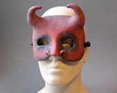OOAK Handmade Devil, Demon Wall Mask for Halloween, Masquerade, Ren Faire - One of a Kind