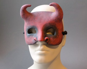 OOAK Handmade Devil, Demon Wall Mask for Halloween, Masquerade, Ren Faire - One of a Kind