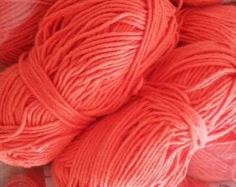 SALE Organic Cotton Yarn - Coral Red