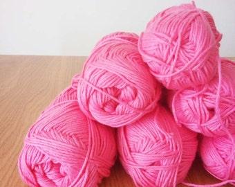 SALE - 14 Organic Yarn Balls - Pink