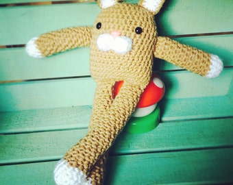 Ready to Ship! Crocheted Jackrabbit Doll- Forest Friends Collection