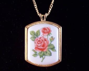 Vintage Roses Pendant by Avon