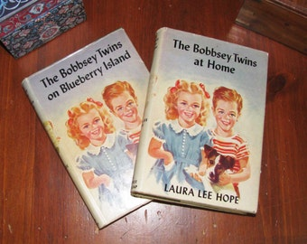 Two Antique Bobbsey Twins books