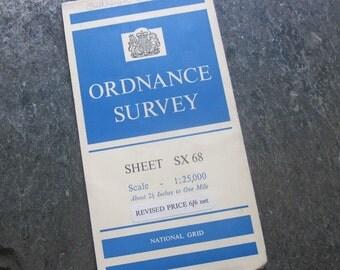 1963 Vintage Ordnance Survey Map of Chagford