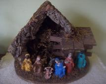 Beautiful Christmas Nativity Set Creche Manger Scene Made in Italy